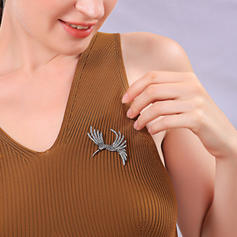 Unico lega con Strass Donna Brooches